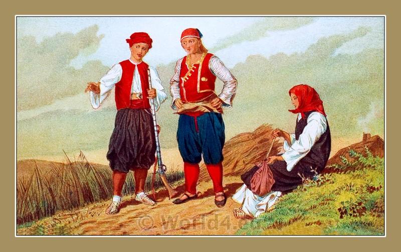 Dubrovnik-Neretva, traditional, costumes, Metković, Dalmatia, Croatia,