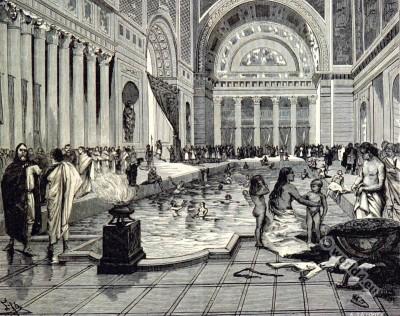 Charlemagne. Carolingian bathroom.