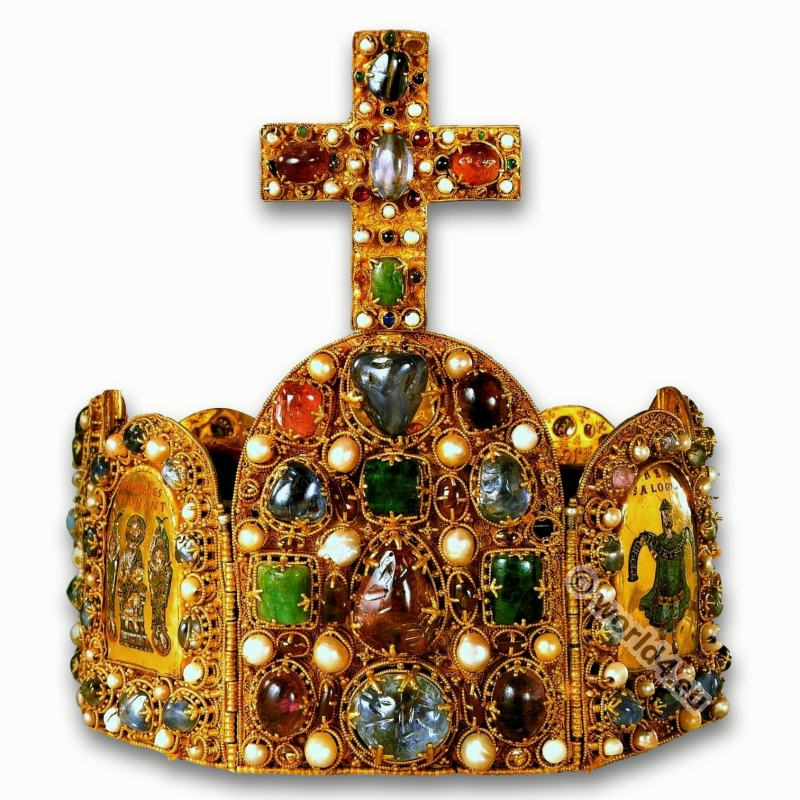 Crown, Charles the Great, Charlemagne. Carolingian era. Middle ages king