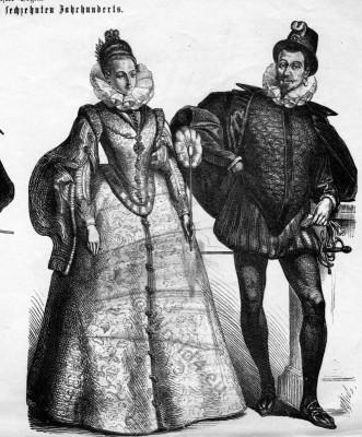 Spanish, fashion, Baroque, Renaissance, costumes