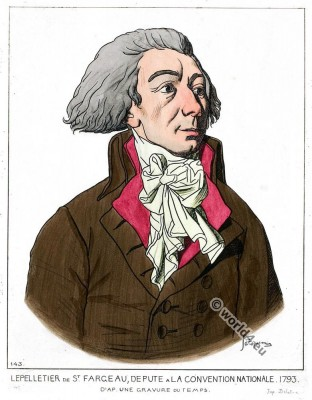 Louis-Michel le Peletier, marquis de Saint-Fargeau. Deputy to the National Convention.