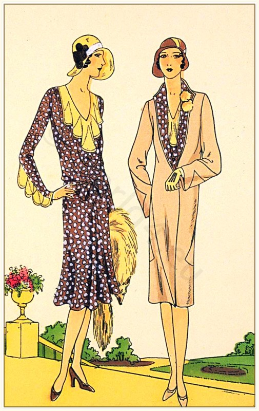 1920s flapper fashion. Germaine Lecomte. Fashion history.