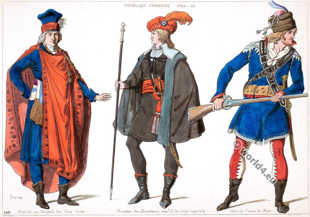 Republique Francaise, Executive Directory, Deputy, Council, Five Hundred, costumes
