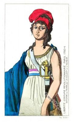Liberte, Costume, revolutionnaire, French, Revolution, costumes,