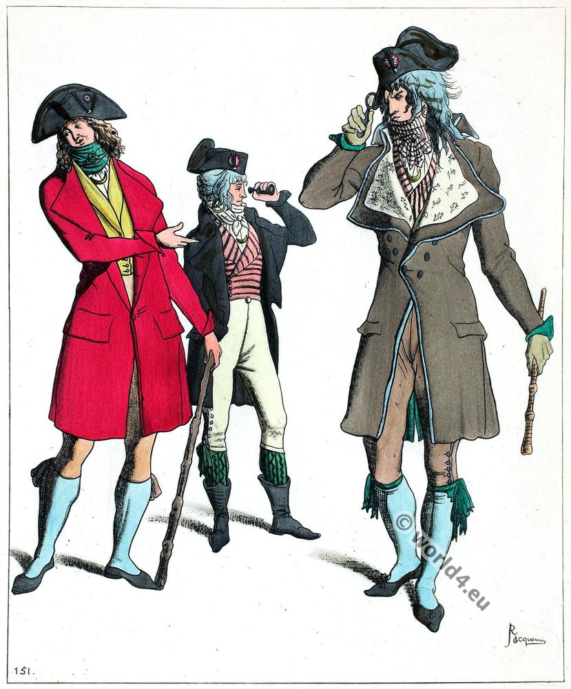 Incroyables. French revolution costumes.