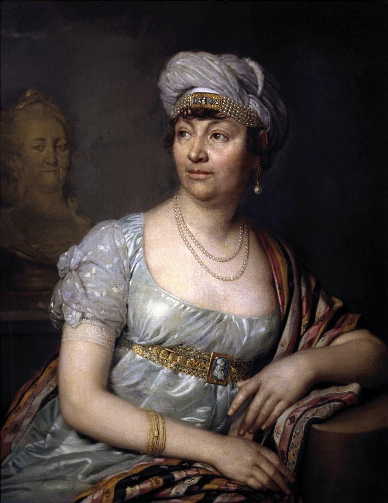 Madame de Staël, writer, 18th century, rococo