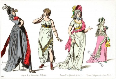 Merveilleuses, French, Revolution, costumes, Directory