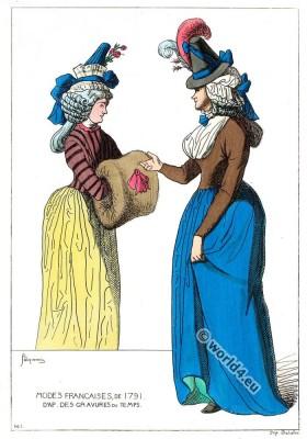 French revolution modes. Costumes Revolution.