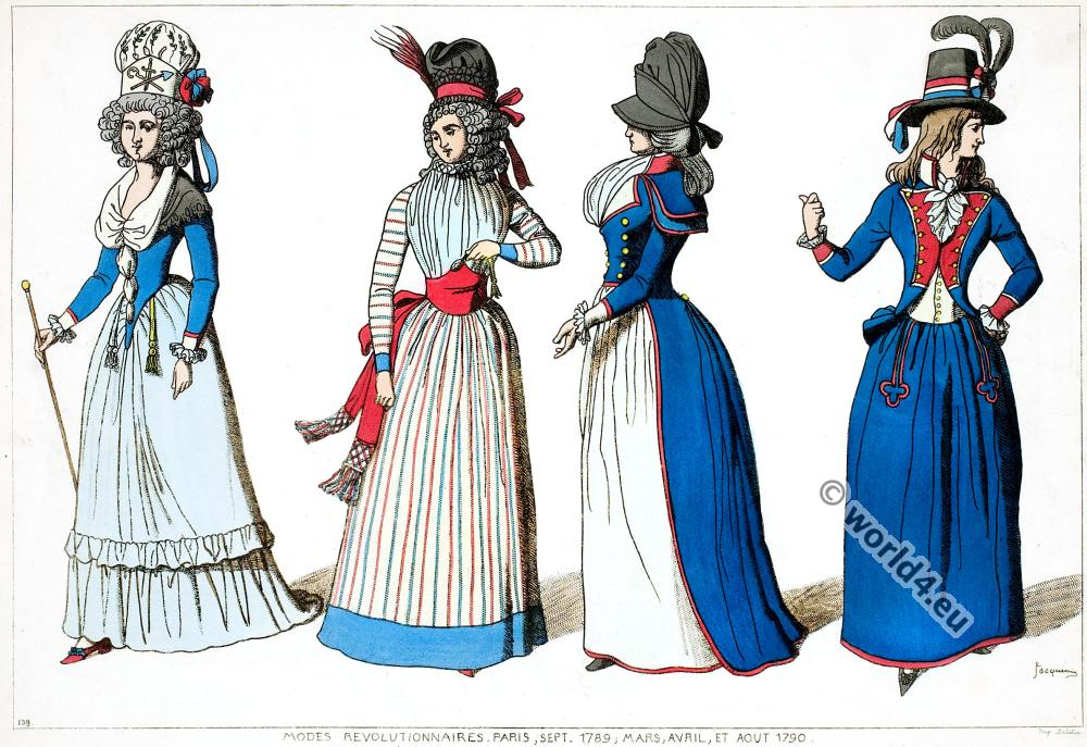 Modes revolutionnaires. French revolution fashion.
