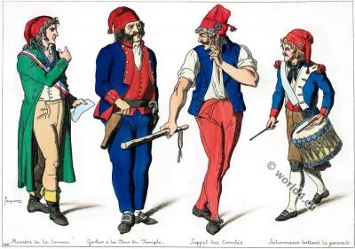Revolutionaries, Paris, costumes, member, commune,