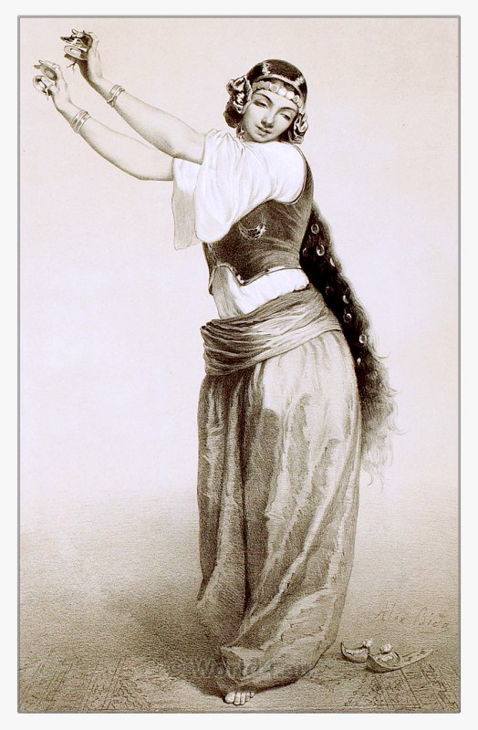 Almeh, courtesan, entertainer, Arabia, celebration, belly dance, costume,