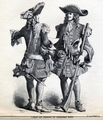 Officer, Musketeer, French Guard, 17th, century, Baroque, Military