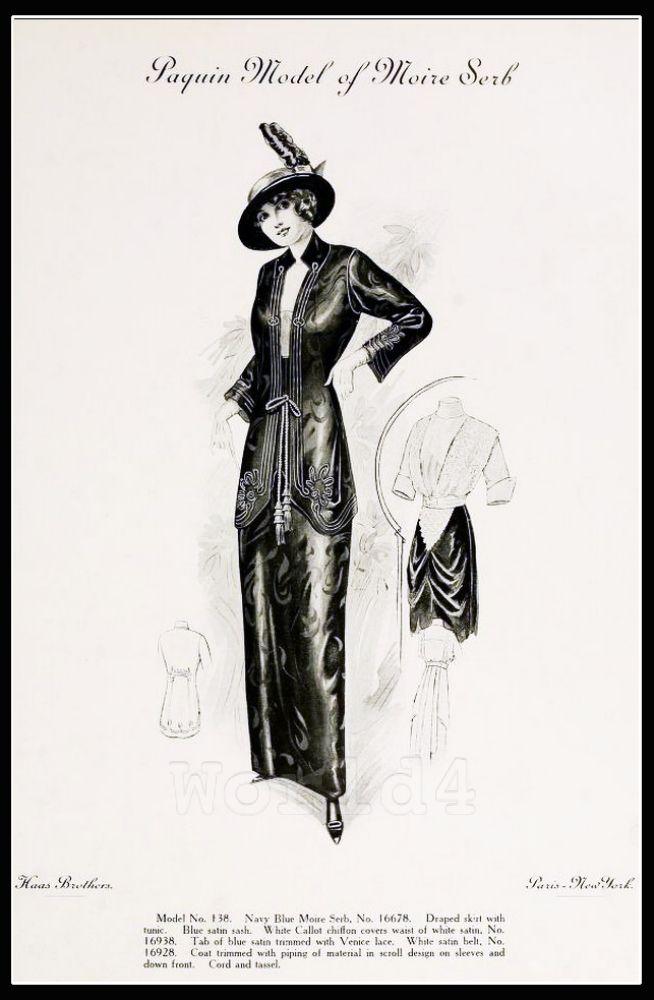 Paquin, costume, fashion art-deco,