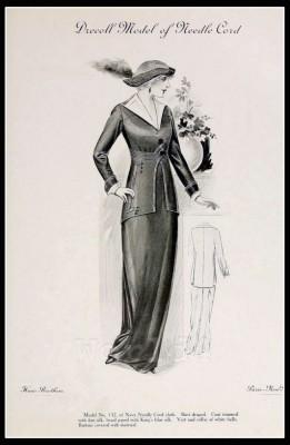 France Fin de siècle fashion. French haute couture gown. Belle Epoque cocktail dress by Baron Christoph von Drecoll