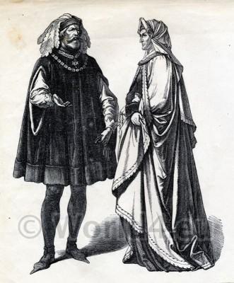 German Fashion History 1450. 15th century.
