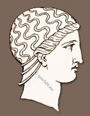 Ancient, Greece, headdresses,
