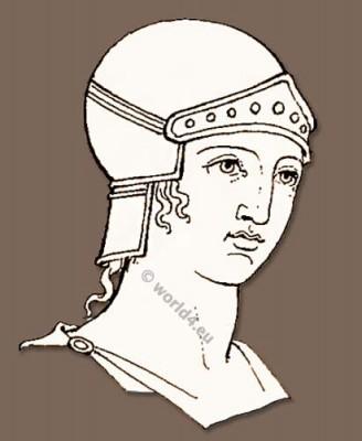 Ancient, Greece, helmet
