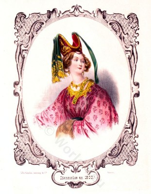 middle ages, fashion, costume, history, burgundy, Italy,