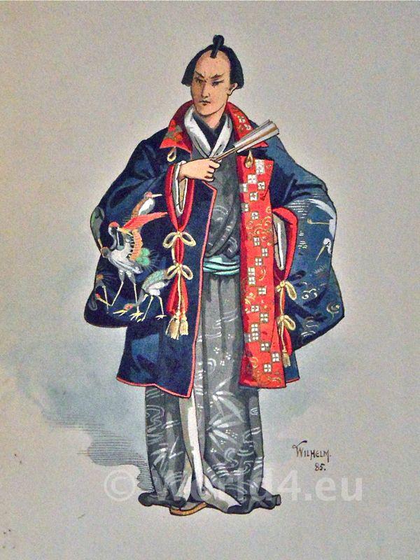 Antique, silk, kimono, Japan,