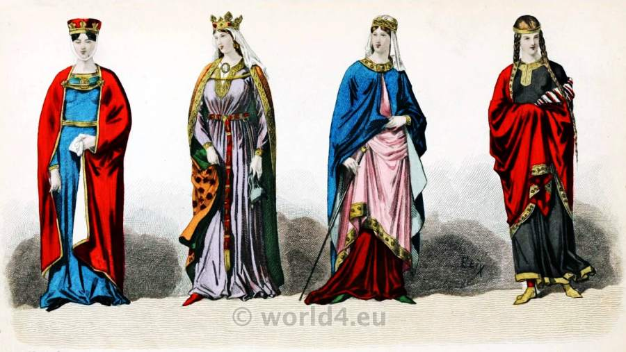 Carolingian Queen, France, Medieval, costume, Middle ages, clothing,