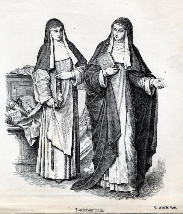 Dominican, nuns, habit, Monastic costumes