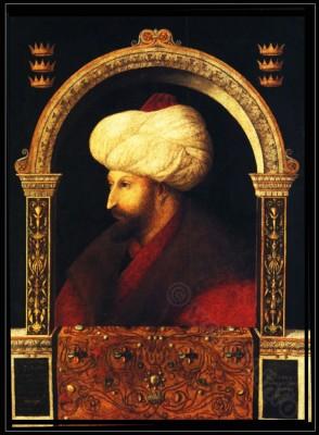 Ottoman Empire  nobility costume. Turkish turban and kaftan.