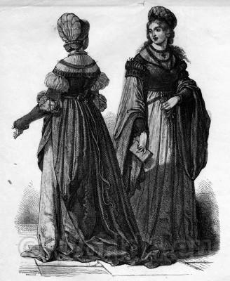 Middle Ages Dresses. German Medieval Fashion. women renaissance clothing