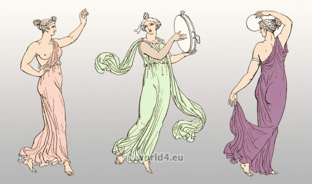 Arcadia, Women, Greek, chiton, Clothing, ancient, Greece, Females dancing