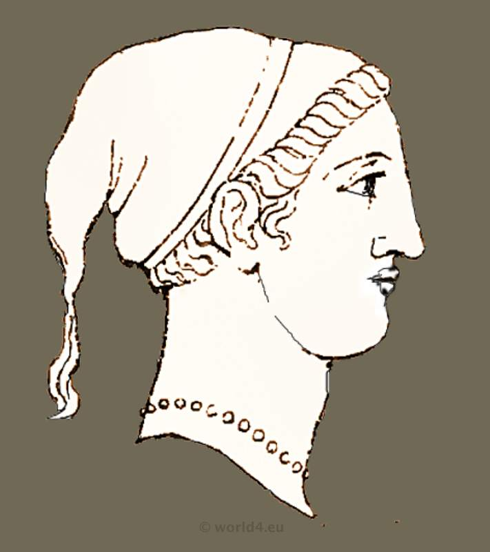 ancient greek hairstyles, grecian hair styles and headdress. greece costume, woman hairstyles, античная голова