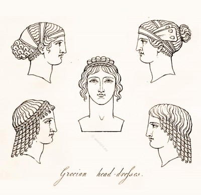 Ancient Greek Headdresses and Hairstyles.