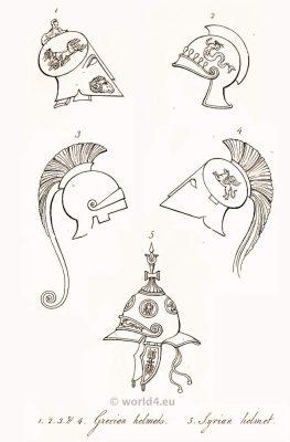 Ancient Greek Helmets. Greek Costume History.