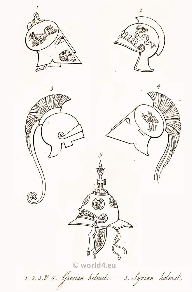 Ancient, Greek, Syrian, Helmets,