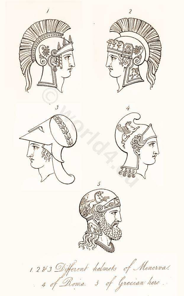 Ancient, Roman, helmets, Antique Greek, Warrior,