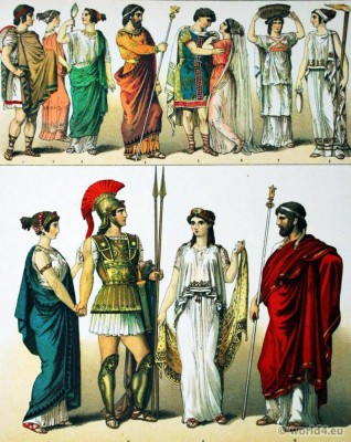 Travelling, Costume, Greece, Females, Grecian, King, Bridal, Basket-Bearer, Priestess, Commander, Greek, King,