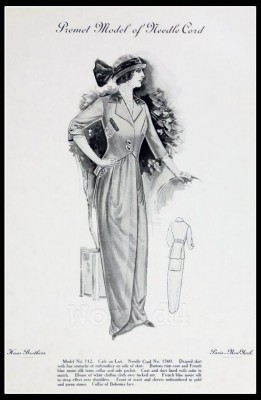 France Fin de siècle fashion. French haute couture gown. Belle Epoque costume by Couturier Premet