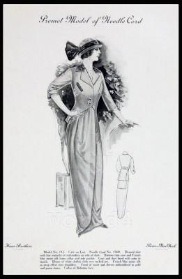 France Fin de siècle fashion. French haute couture gown. Belle Epoque costume by Couturier Premet