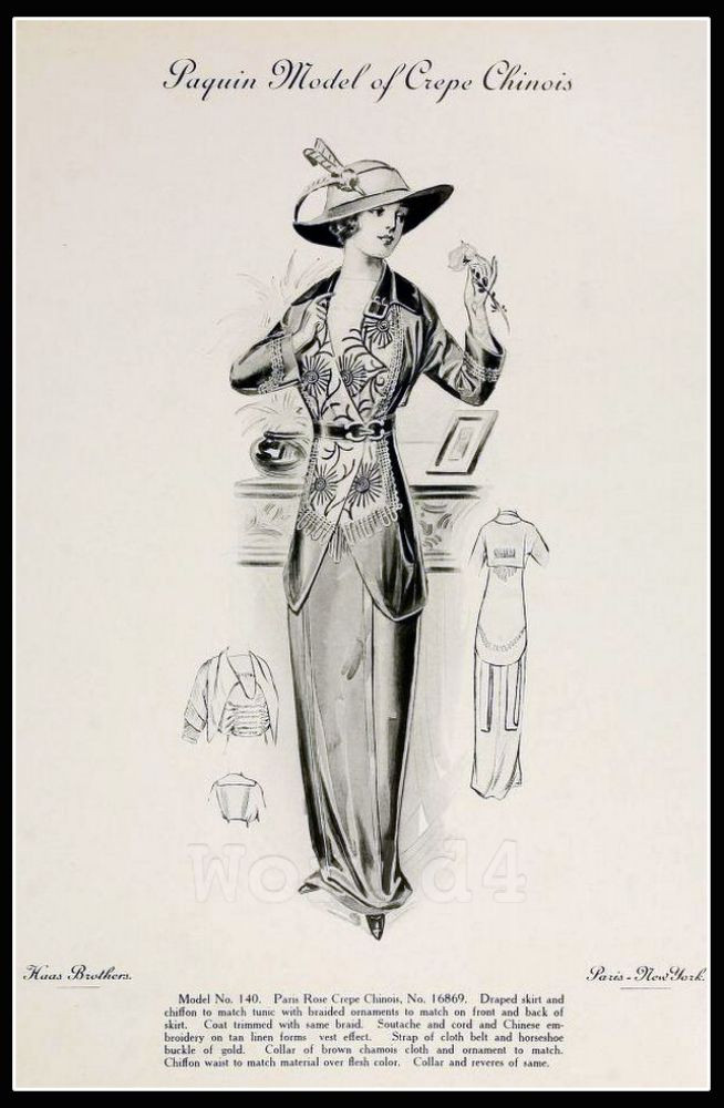 Jeanne Paquin, costume, haute couture