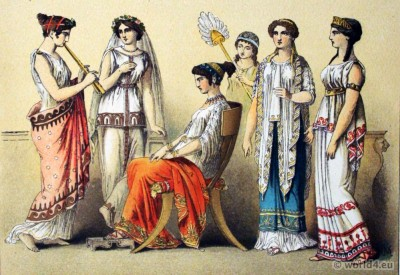 peplos, ancient, greek, costumes,