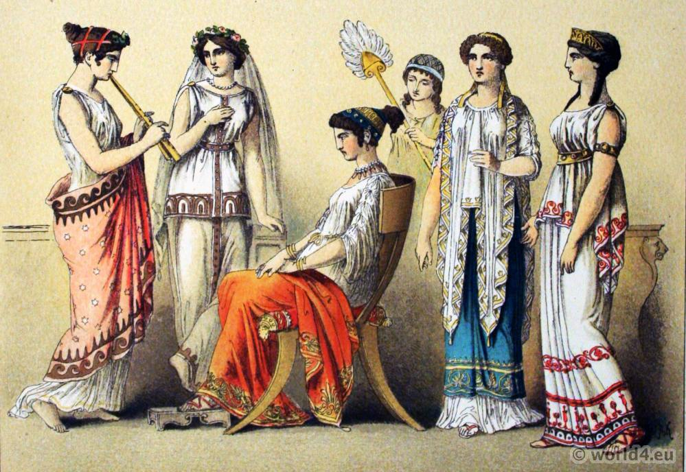 ancient greek costumes peplos