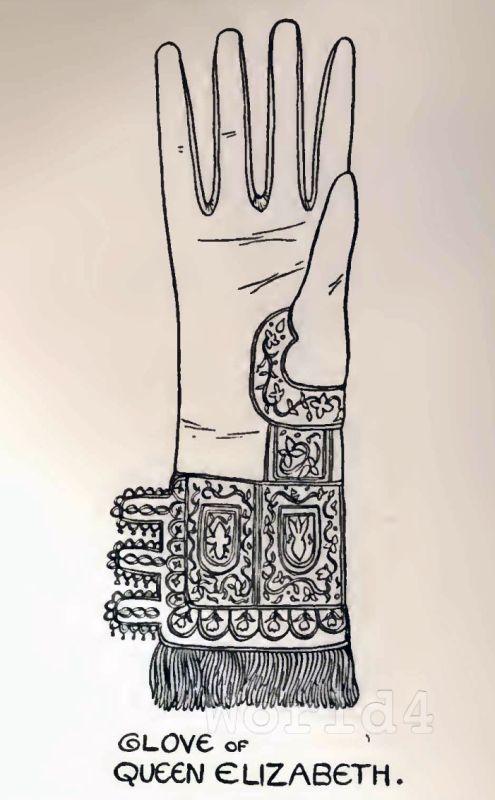 Medieval, fashion, Queen Elizabeth, glove