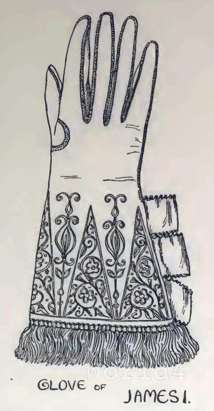 Medieval, fashion, Glove,  King James I.