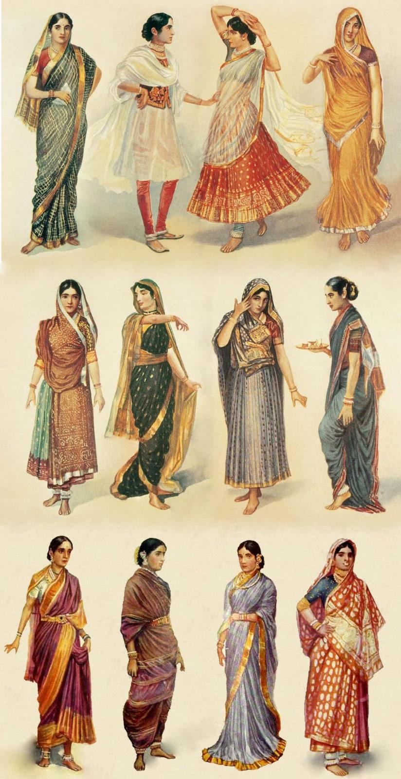 India, sari, method, draping