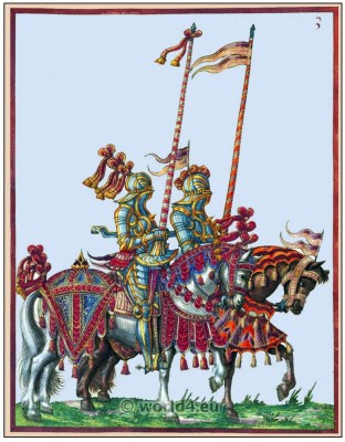 Knight, middle ages cavalry. Tournament, 16th century, military costumes, Chivalry,