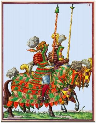 Knight, middle ages cavalry. Tournament, 11th century, military costumes, Chivalry,