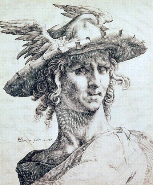 Ancient, Greek, headdress, Mercury, winged, petasus,