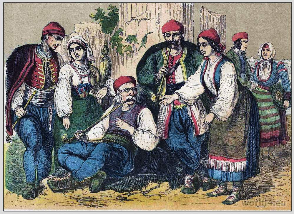 Dalmatia, Croatia, traditional, national costumes, Balkans, Dalmatia, Serbian