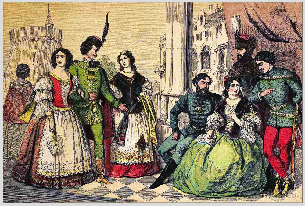 Hungary, Magyars, Costumes, clothing, traditional, Habsburg monarchy