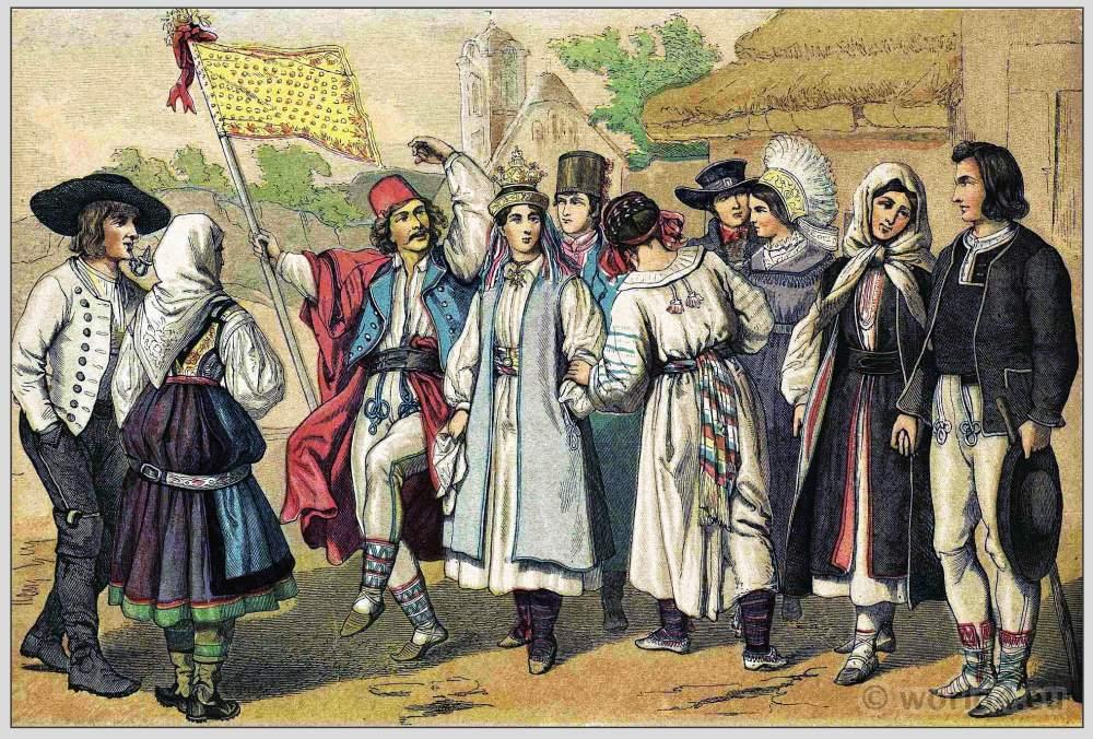Slowenia, Costumes, clothing, traditional, Habsburg monarchy