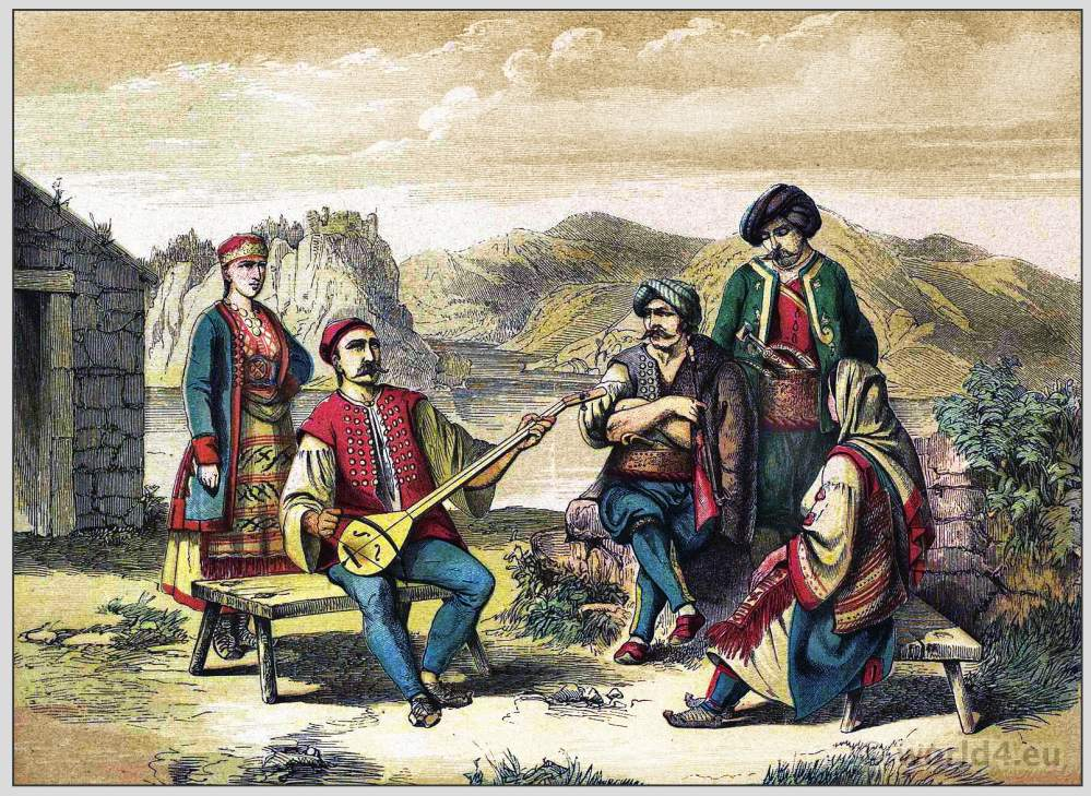 Maurowalachen, Morlakian, Dalmatia, Costumes, clothing, traditional, Habsburg monarchy