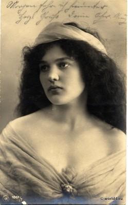 Art Nouveau, Germany, German beauty, pretty, girl, Belle Époque, fashion,